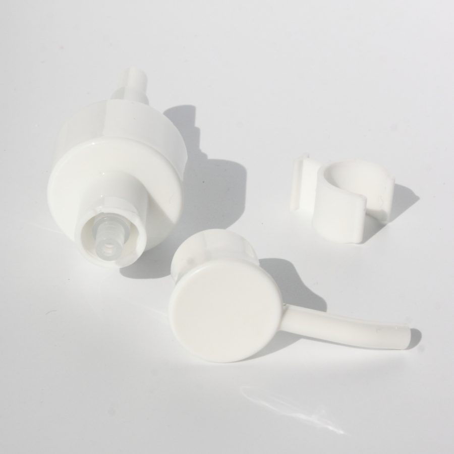 the side of treatment pump for makeup remover