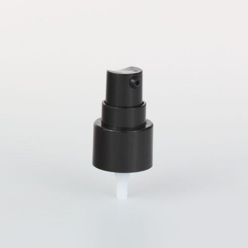 black treatment pumps with transparent cover