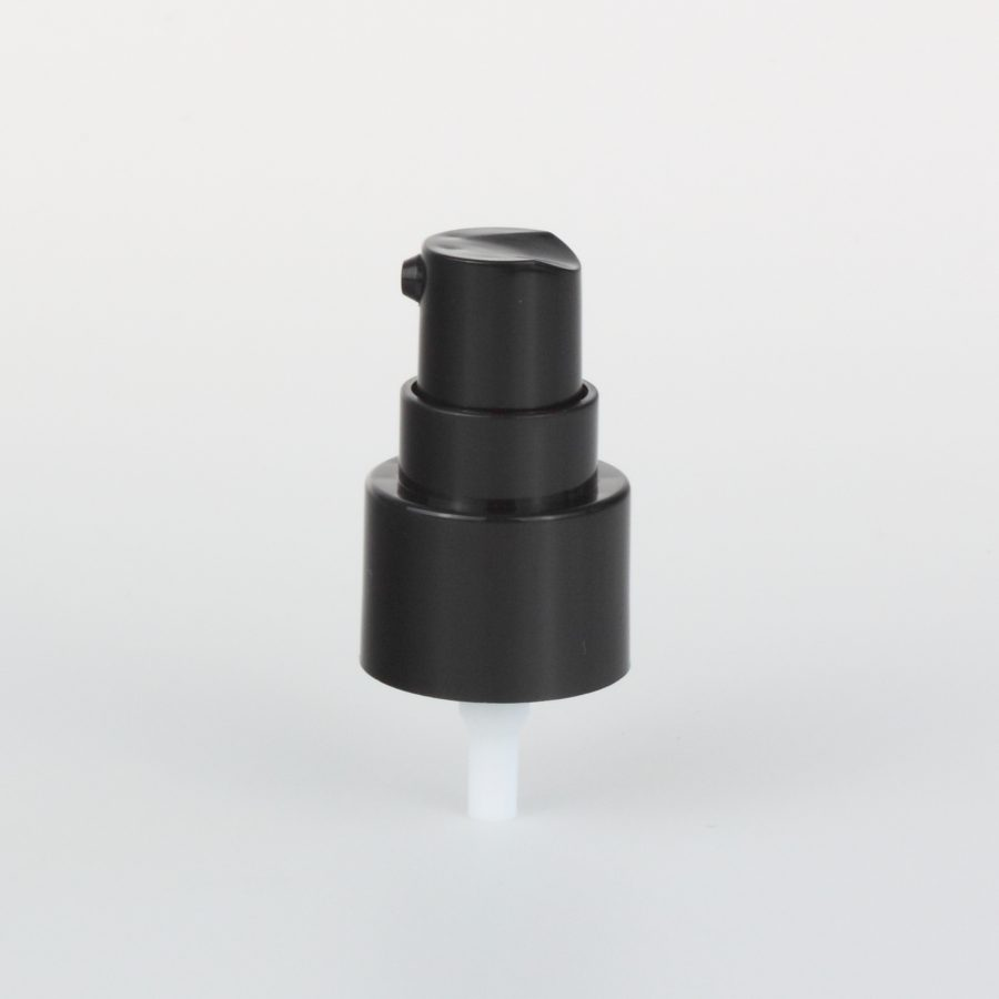 black treatment pumps with transparent cover 18mm