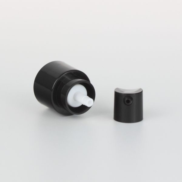 18mm black treatment pumps with transparent cover