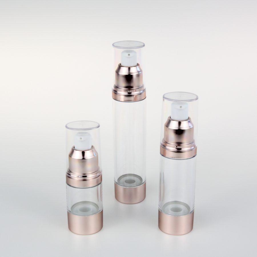 empty air bottles with aluminum cream pump