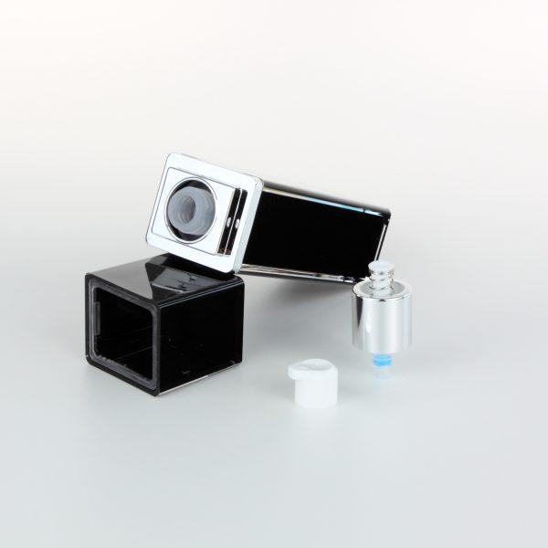 40ml black acrylic cosmetic bottle