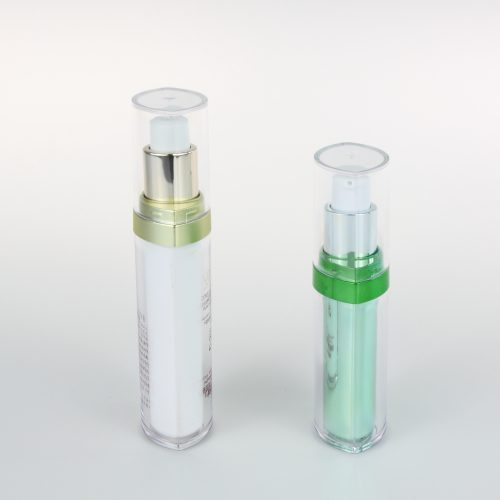 empty airless pump plastic bottle