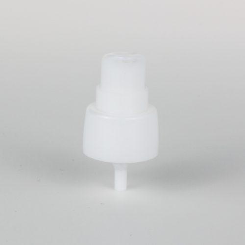 white hand cream pumps dispenser 24mm