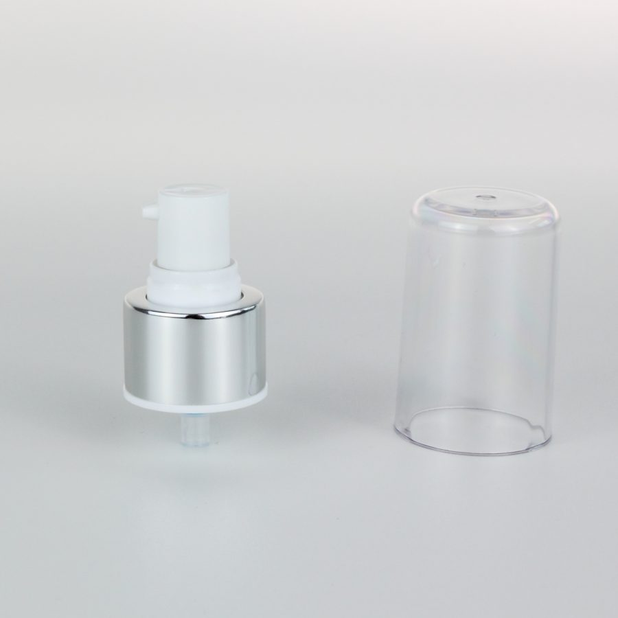 white aluminum treatment pumps