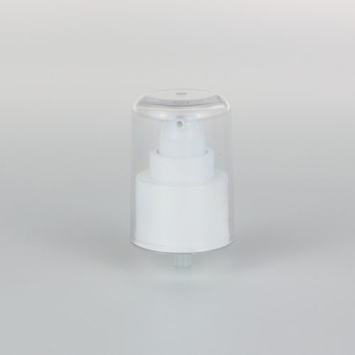 white treatment pumps dispenser 24mm