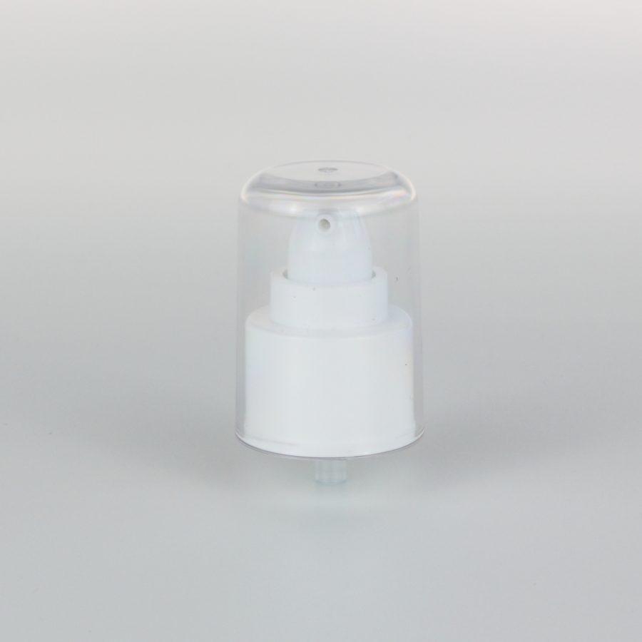 white treatment pumps dispenser 24mm