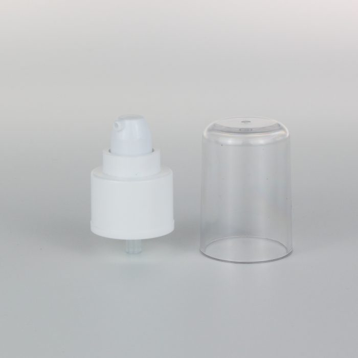white treatment pumps dispenser