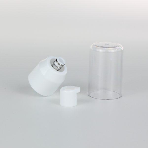 24mm white cream pump
