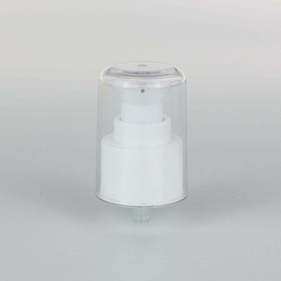 white cream pumps dispenser 24mm