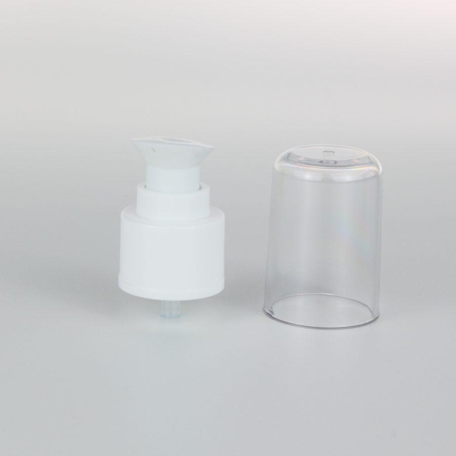 white cream pumps dispenser