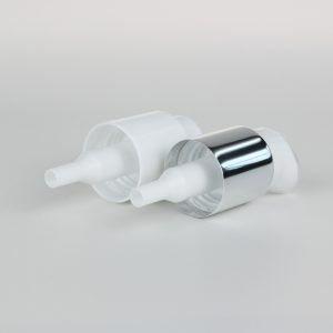 white treatment pumps with clip