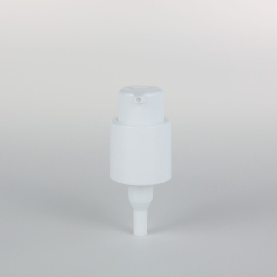 white treatment pumps