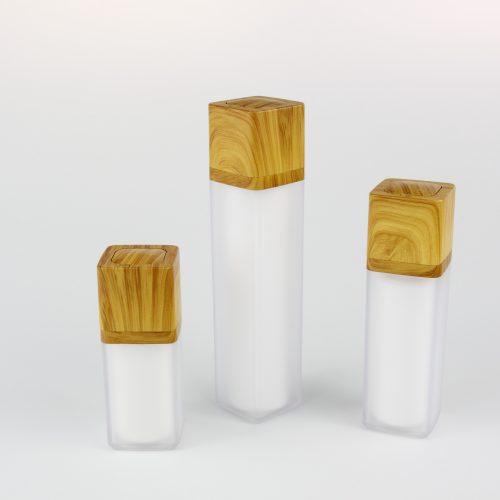 15ml 30ml 50ml bamboo airless bottles