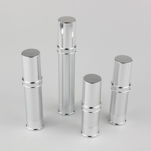 10ml 15ml 20ml 30ml airless bottles silver