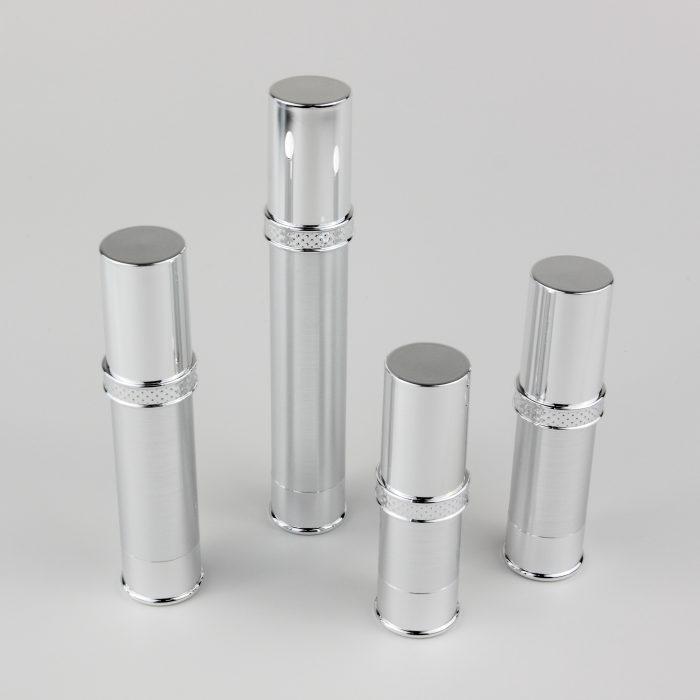 10ml 15ml 20ml 30ml airless bottles silver