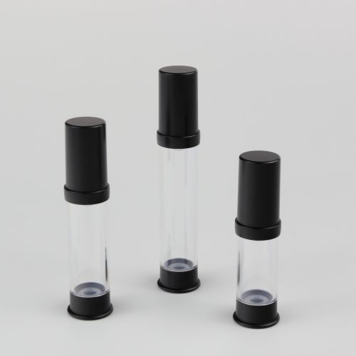 5ml 10ml 15ml airless black bottles