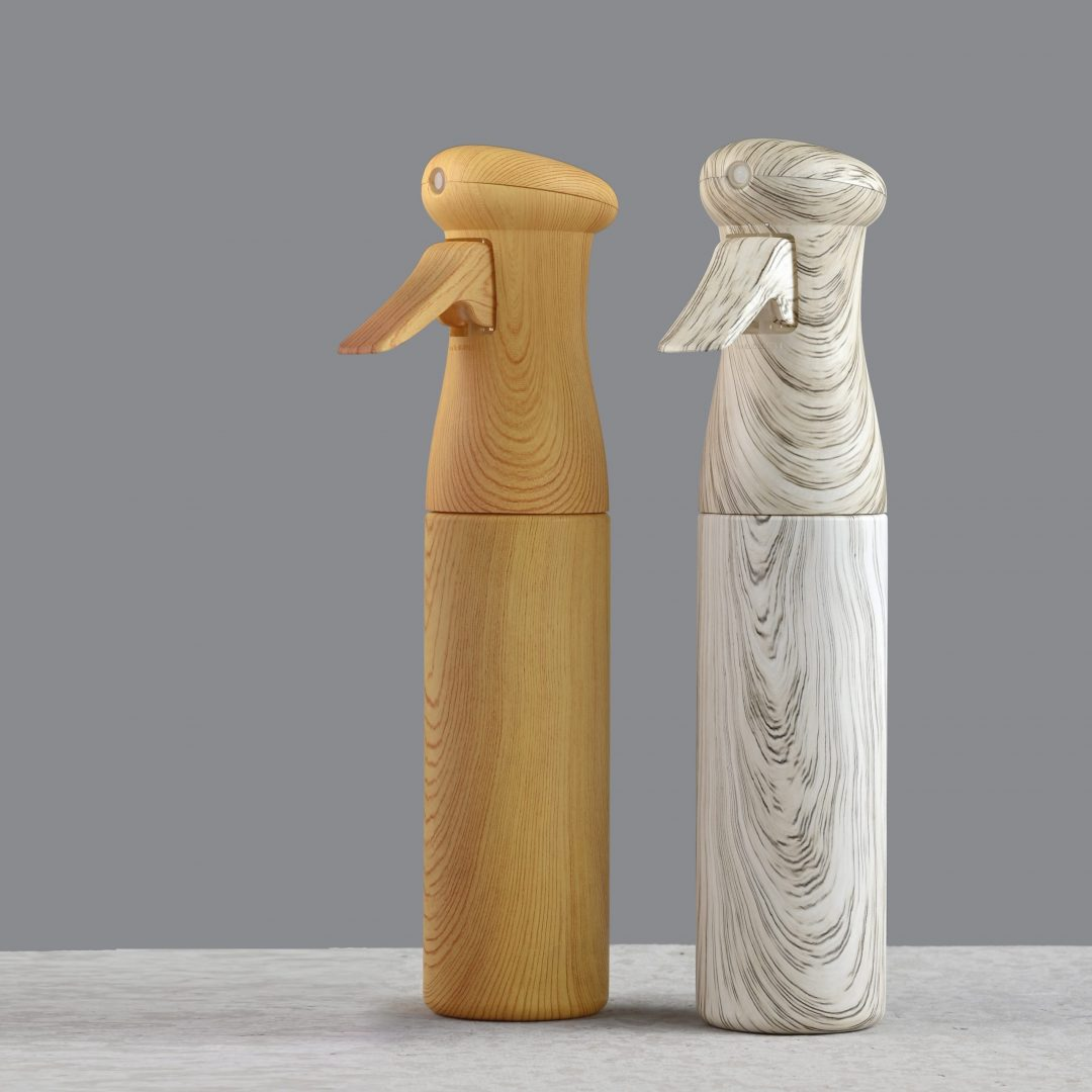 Wood texture continuous mist sprayer bottle 250ml